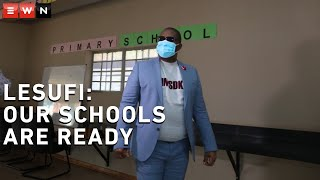 MEC for Education in Gauteng Panyaza Lesufi visited schools around the province to ensure that places of learning were prepared and properly equipped for the reopening of schools on 1 June 2020.