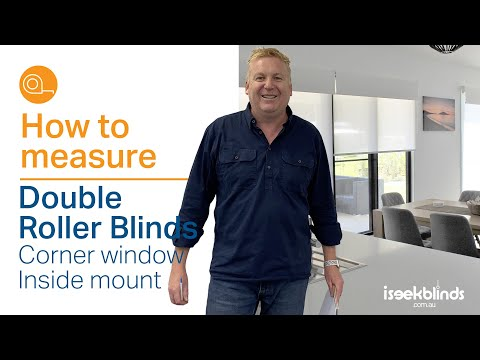 How To Measure Double Roller Blinds Corner Window Inside Mount