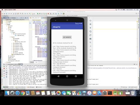Parse An HTML Page On Android With JSoup
