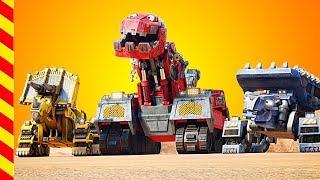 Динозавры роботы мультик. Dino Trucks Добрые роботы против злых роботов. Машинки, Грузовик, Трактор,
