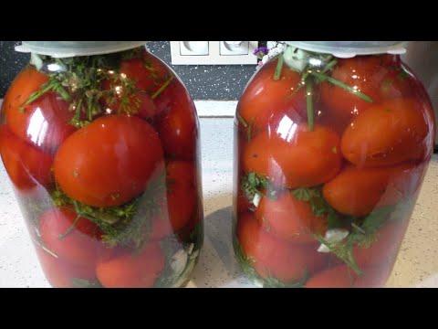 Соленые помидоры в банке , как бочковые . Простой рецепт Супер Вкусных Помидор !!!