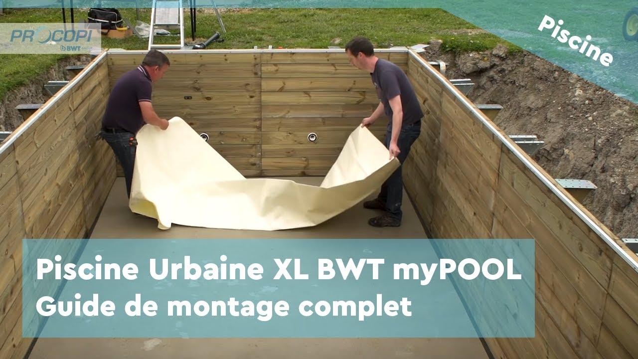 version longue montage complet de la piscine urbaine xl bwt mypool