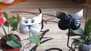 Подарок Теще и Маме на #8 марта# кошка и кот....