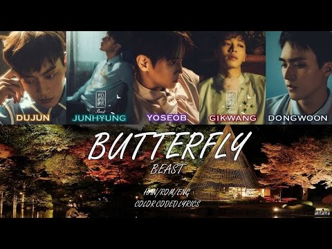 Butterfly - BEAST (비스트) [Han/Rom/Eng] Color Coded Lyrics