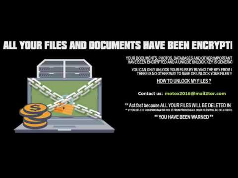 DetoxCrypto Ransomware Variant that takes a Screenshot of your Windows Screen