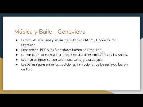 Spanish Peruvian Culture in South Florida Project