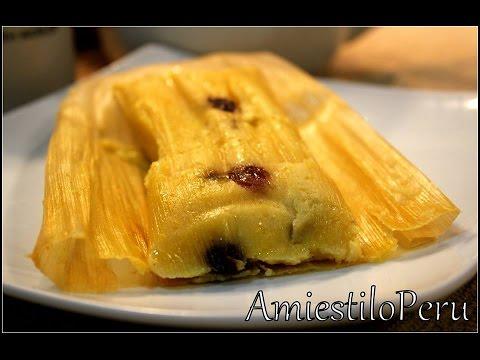 HUMITAS DE CHOCLO Dulces con pasas continuacion2014  YouTube