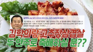 김학의랑 고추장삼겹살 안주로 축배 할 사람?? | 김성…
