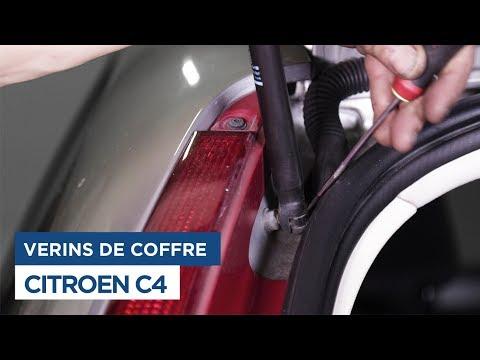 Citroën C4 - Changer les vérins de coffre