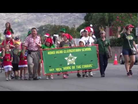 Hawaii Kai Holiday Parade 2012 - Koko Head Elementary School