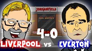 Liverpool vs Everton 4-0 (Highlights Goals Jurgen Klopp song! Merseyside Derby 2016 Parody)