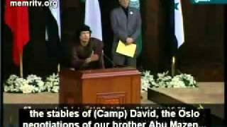 Muammar Gaddafi Addressing Arab League.flv