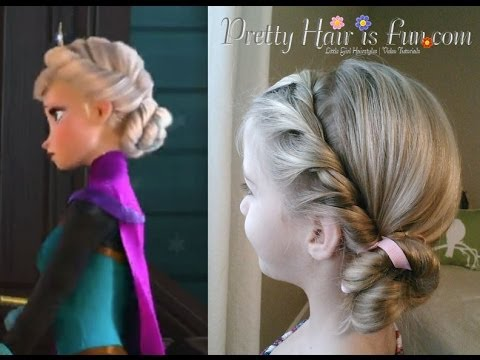 ELSA'S CORONATION HAIRSTYLE DISNEY'S FROZEN!! - YouTube