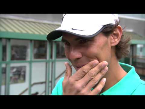 Rafael Nadal is quizzed on his Wimbledon knowledge