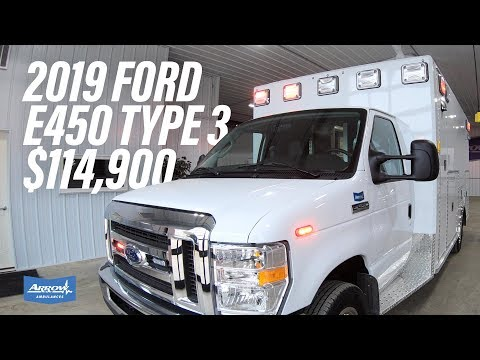 2019 Ford E450 Type 3 Arrow Ambulance (Truck #06713)