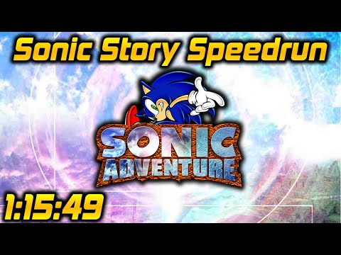 Sonic Adventure (Dreamcast): Sonic Story in 1:15:49 by