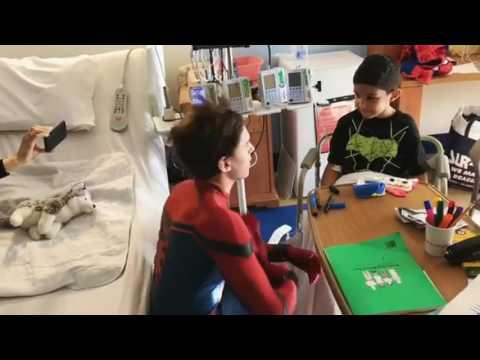 Zendaya & Tom Holland Visiting NewYork-Presbyterian Hospital