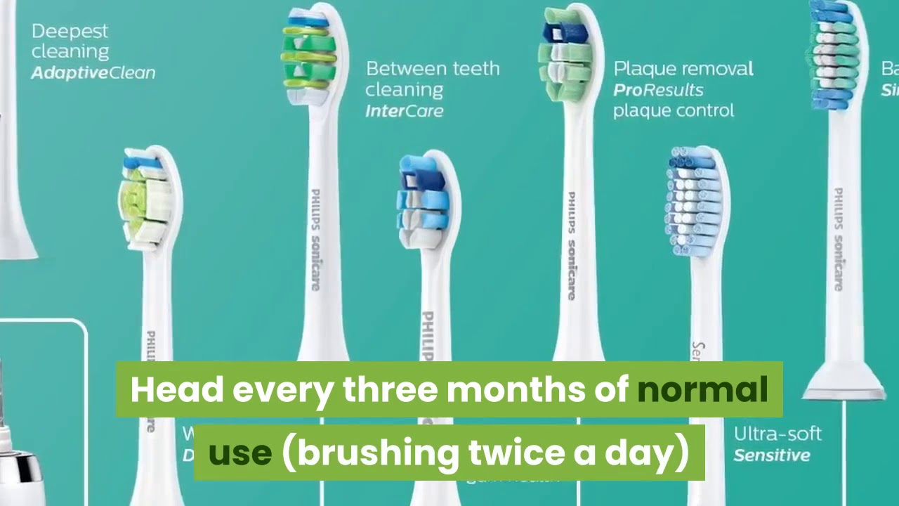 How often should I replace Sonicare toothbrush head? - YouTube