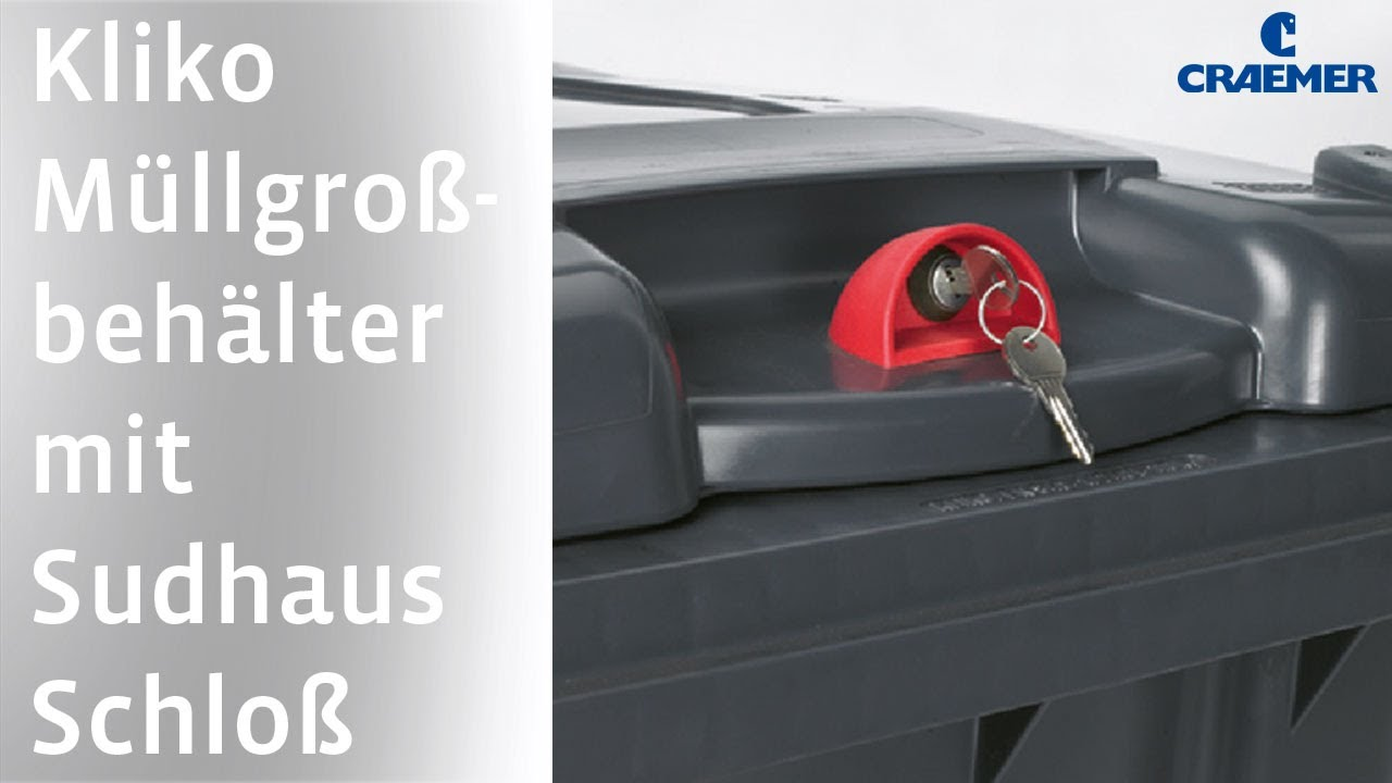 Wheelie bins with Sudhaus locking device (de)