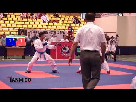 SENIOR MALE TEAM KUMITE    AKA. VIETNAM2  - AO. INDONESIA - The 7th SEAKF Karate Championship 2018