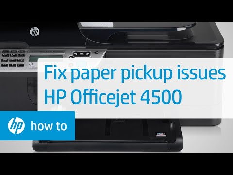 Printer Does Not Pick Up Paper - HP Officejet 4500 Wireless All-in-One (G510n)