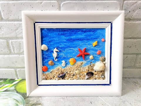 Картина своими руками из морских ракушек
