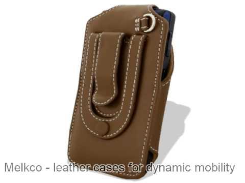Melkco Tasche Leder Etui cuir ~ Samsung Saga SCH-i770 Universal Vertical Pouch Type (Brown)
