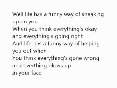 Summary Alanis Morissette Ironic Song Lyrics