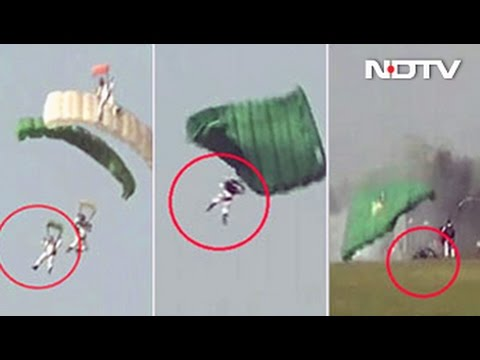 IAF Skydiver Injured After Hard Landing At Air Show In Gujarat