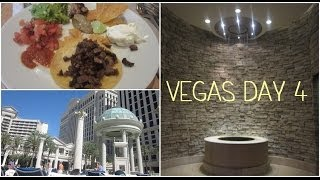 Honeymoon in Vegas: vlog day 4 ❤ June 13th 2014 (Qua Spa, Bacchanal Buffet, Caesars Pool) Thumbnail