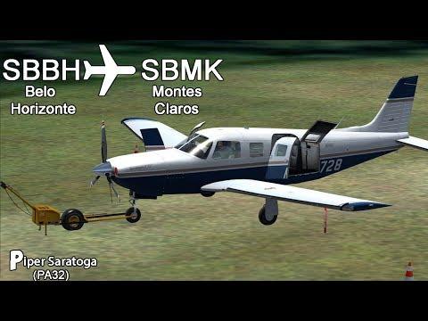 |FSX| ( 🛫 SBBH ✈️ SBMK 🛬 ) 🛩 PIPER SARATOGA 🛩🇧🇷