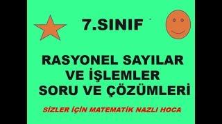 2018-2019 7.SINIF MATEMATİK RASYONEL SAYILAR SORU VE ÇÖZÜMLERİ