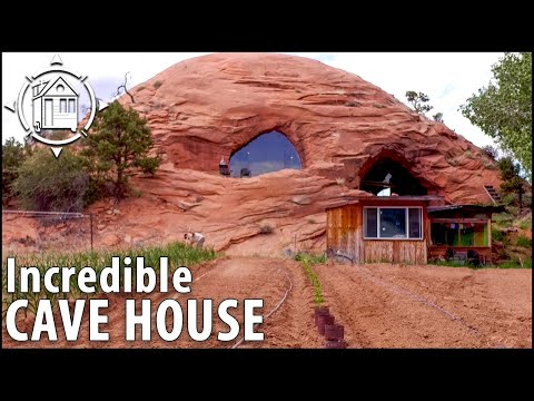 Modern Cave House is Man's Life Long Dream  5,700 sq ft!