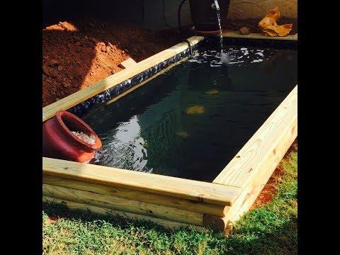 Raised pond DIY