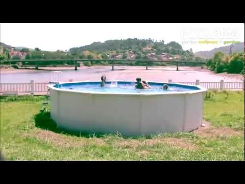 Montaje piscina desmontable redonda gre youtube for Piscinas desmontables cuadradas