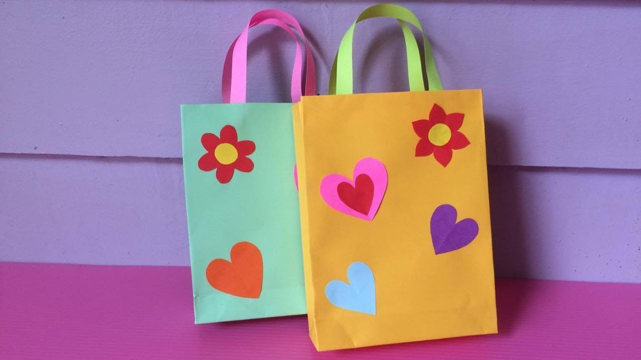 818fa60d1ee8 How to Make Bag with Color Paper