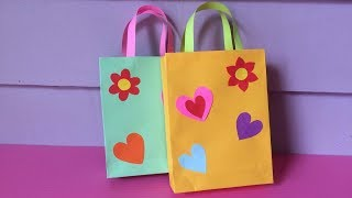 How to Make Bag with Color Paper | DIY Paper Bags Making