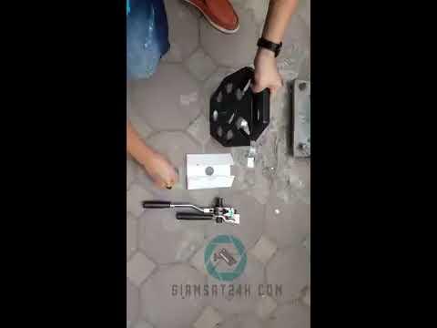 Huong dan lap camera PTZ lên cột điện