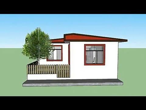Plano de casa moderna de 7x17 mts youtube for Casa moderna 7x20