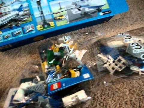 lego city passenger plane 3181 unboxing