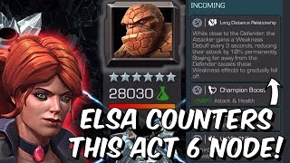 Elsa Bloodstone Counters This Act 6 Node! - 5 Star Gameplay - Marvel Contest of Champions