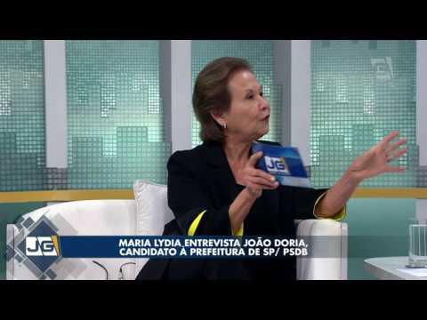 Maria Lydia entrevista João Doria, candidato à Prefeitura de SP/PSDB