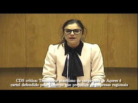 CDS critica: Transporte mar�timo de carga para os A�ores � cartel defendido pelo Governo que prejudica as empresas regionais