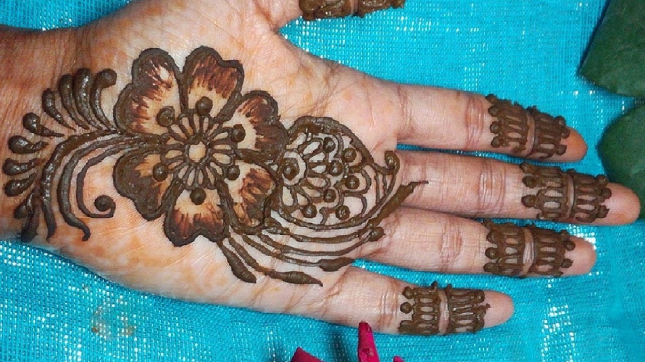 Apply Mehndi Hands : How to apply henna on hands for beginners 2017 2018 youtube