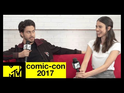 Nat Wolff & Margaret Qualley on 'Death Note' Themes & Screams | Comic-Con 2017 | MTV