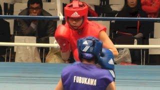 Women's Boxing 林美涼 vs 古川絢菜 (女子ボクシング) 2013.4.2