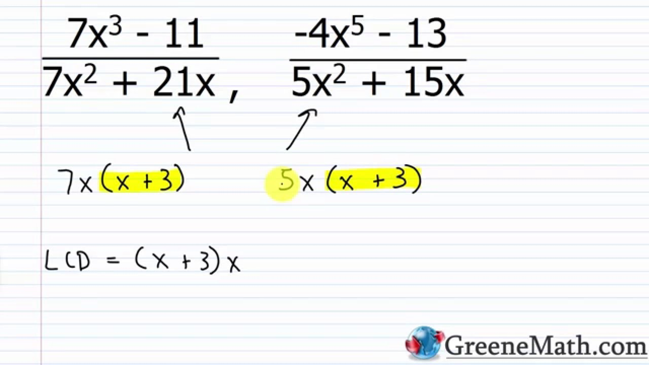 Solve Rational Equations With Variables In Denominator