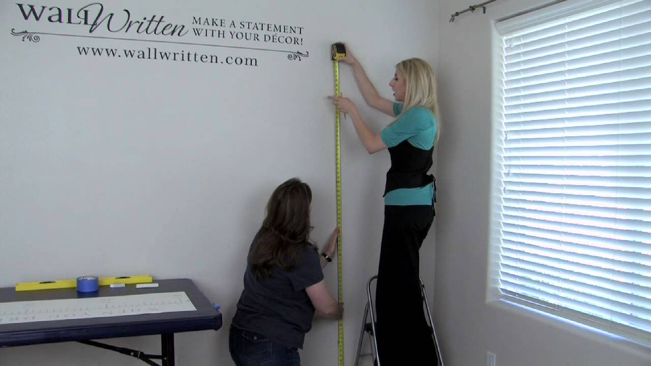 how to apply a vinyl growth chart decal to your wall
