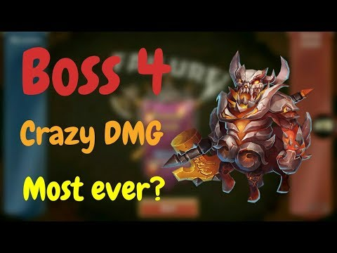 Boss 4 L Crazy DMG L Most Ever? L Castle Clash