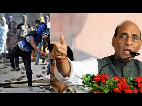Rajnath Singh visit Kashmir valley, fresh clashes erupt killing one more youth | Oneindia News